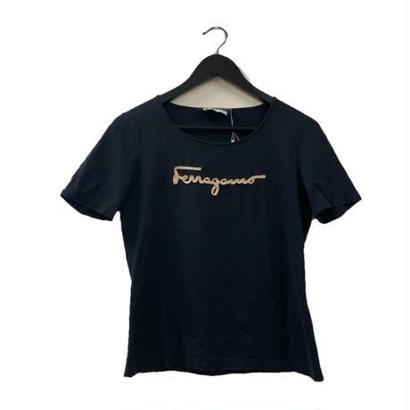 Salvatore ferragamo logo tee black(No.3316)