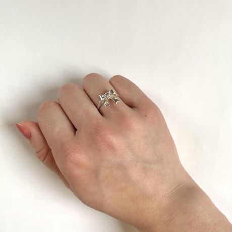 ribbon vintage ring (No.4308) silver925
