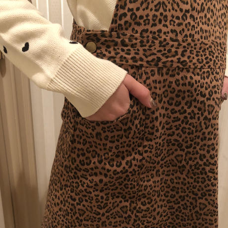 leopard jumper skirt