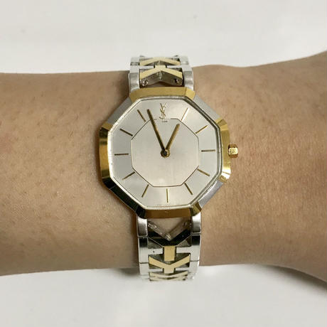 YSL  logo Ychain Watch