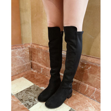 suède knee-high boots