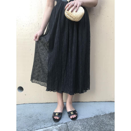 lace pleats double skirt