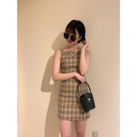 Burberry check design one-piece(No.3004)