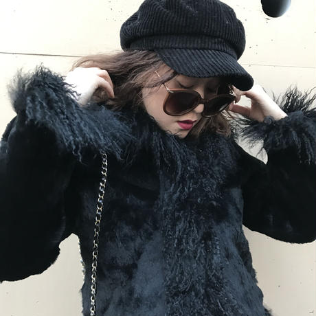 design fur coat black