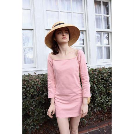 ballerina neck French onepiece pink