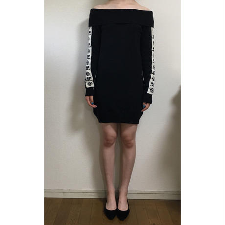 courréges arm logo knit one-piece(No.1256)