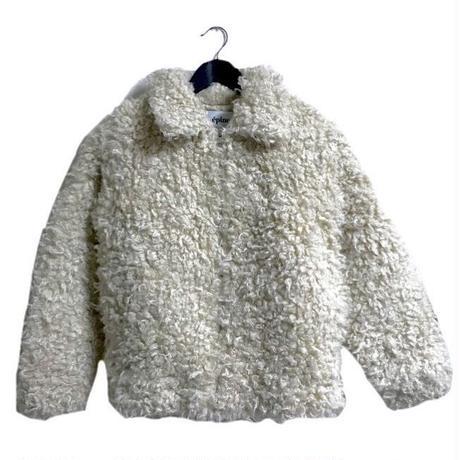 【スペシャルプライス】curly fur coat ivory