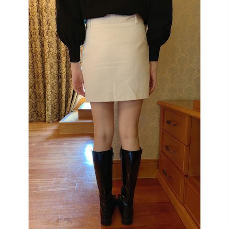corduroy belt skirt ivory