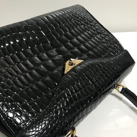 emboss design bag black