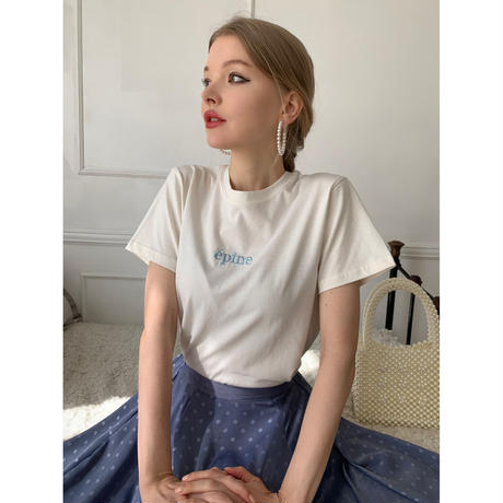épine embroidery tee Yoghurt