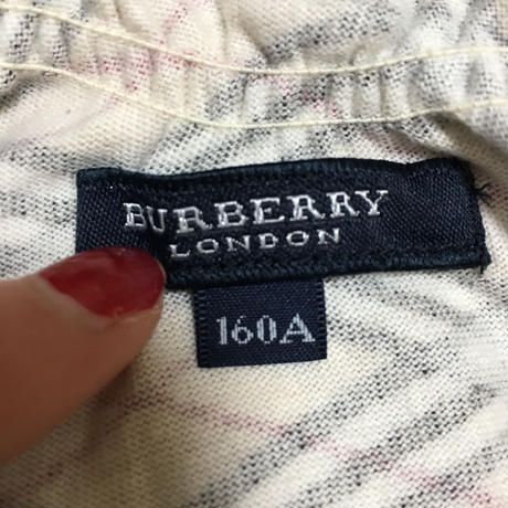 Burberry check design frill tops