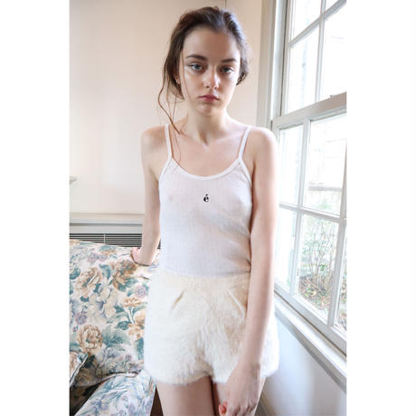 épine label camisole é embroidery×white punching