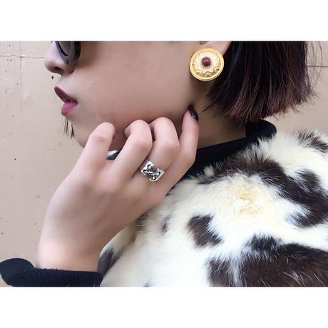 stone design earrings