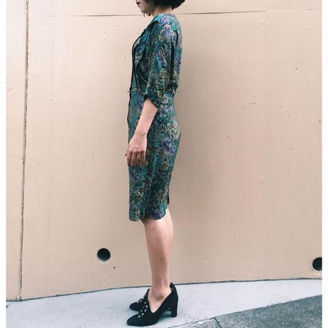 antique flower dress