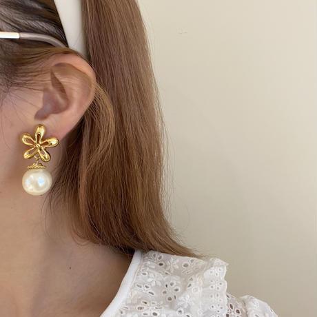 flower pearl earring (No.4511)