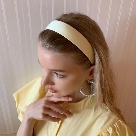 satin headband lemon