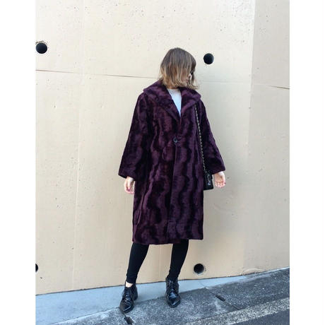 【スペシャルプライス】design purple long fur coat
