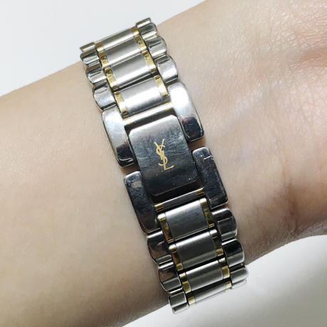 Yves Saint Laurent gold×silver Watch