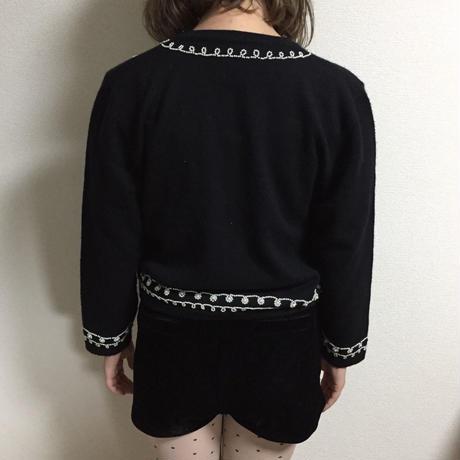 pearl design knit cardigan