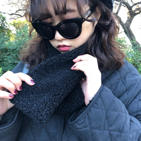 【スペシャルプライス】reversible 2way down boa coat muffler set black