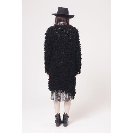 volume knit long cardigan