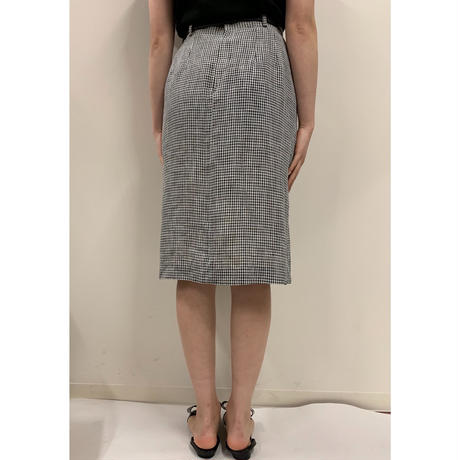 monotone gingham check  design skirt(No.2205)