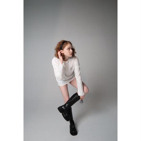 pinup girl long tee white