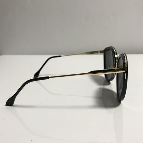 side gold cat eye sunglasses