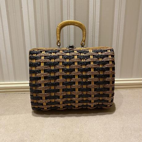 vintage basket bag(No.4448)
