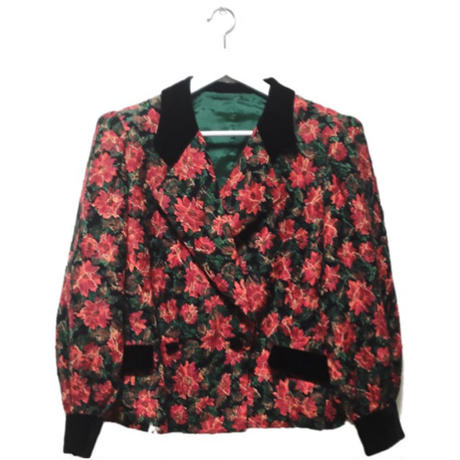 flower velours jacket