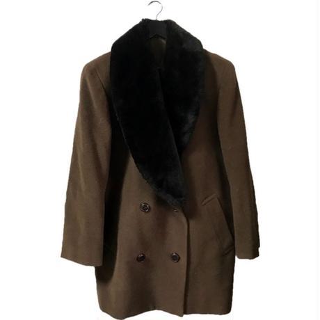 【スペシャルプライス】neck fur wool coat blown