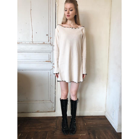 piping frill thermal onepiece ivory