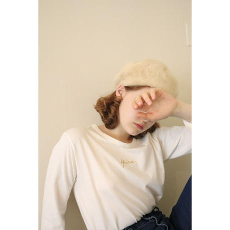 épine embroidery gold logo long tee off white