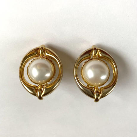 pearl vintage earring (No.4302)