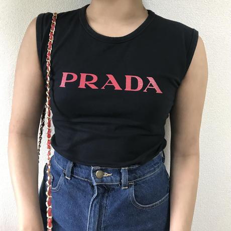 PRADA logo tank top