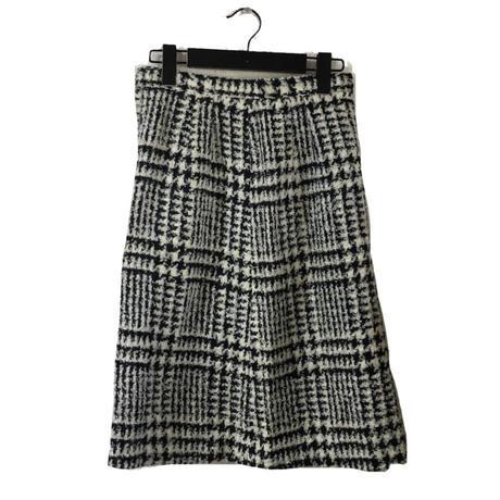 monotone check design skirt