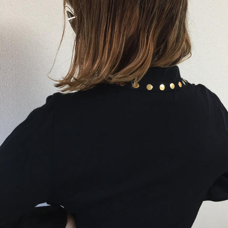 YSL gold botton knit