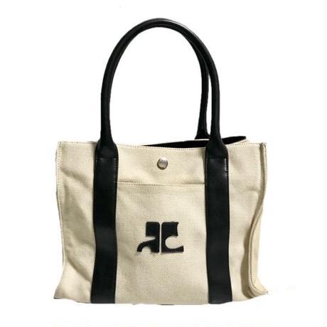 courregeses logo canvas bag
