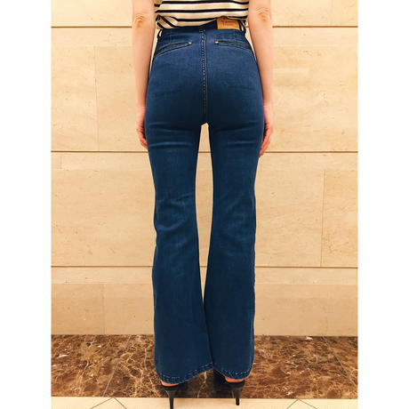 épine high-waist fit bell jeans