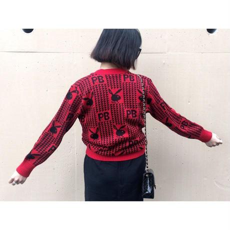 play boy red knit