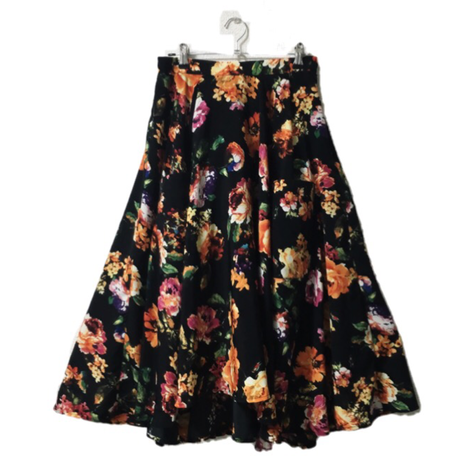 flower lace-up skirt