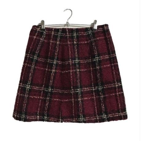 tweed  check skirt