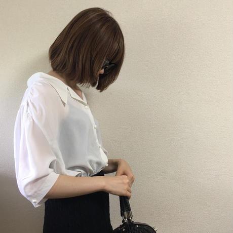 collar silhouette blouse