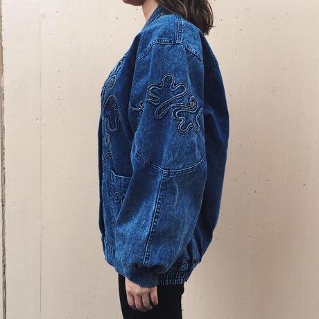 cord design denim jacket