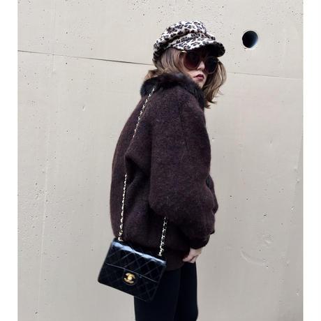 knit fur coat blown
