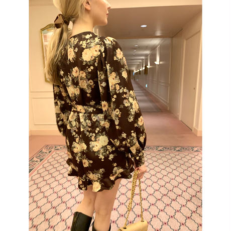 arm volume frill rompers flower