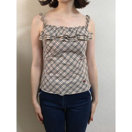 Burberry check design frill camisole(No.3271)