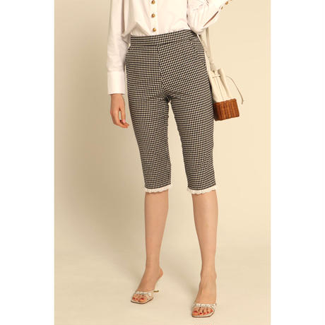 gingham check lace Sabrina pants