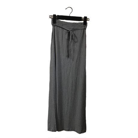 gingham check design long skirt