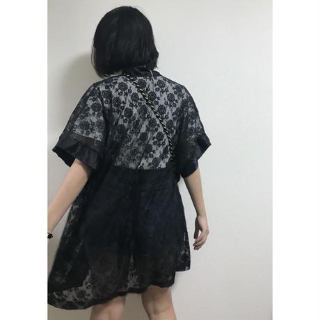lace gown black